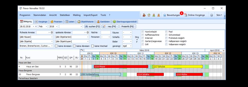 Ferienwohnung Software Buchungssystem Belegungskalender